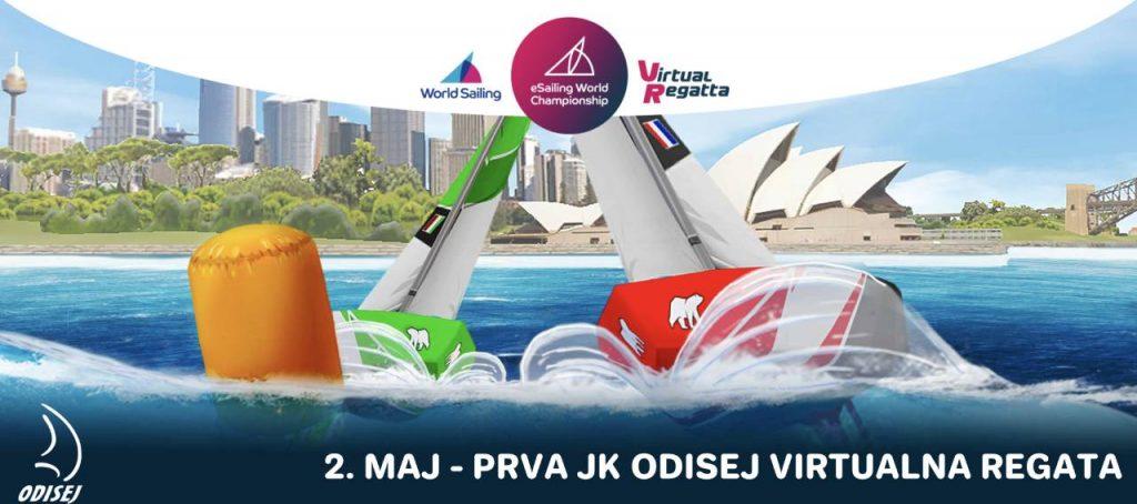 1. Virtualna regata JKO J70 - poročilo